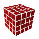 cubi 3d nel colore rosso ed isolati su una priorità bassa bianca Fotografia Stock
