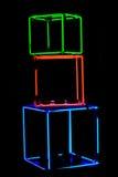 Cubi al neon Fotografie Stock