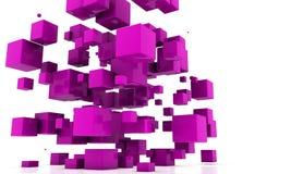 Cubi astratti Fotografia Stock