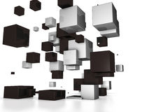 Cubi astratti 3D Immagini Stock Libere da Diritti