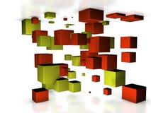 Cubi astratti 3D Immagini Stock
