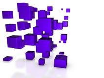 Cubi astratti 3D Fotografie Stock Libere da Diritti