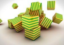 Cubi astratti 3D Fotografia Stock