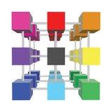 Cubi astratti 3d Fotografie Stock