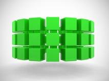 Cubi astratti in una riga Fotografia Stock