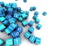 Cubi binari Immagine Stock