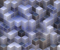Cubi blu Fotografia Stock Libera da Diritti