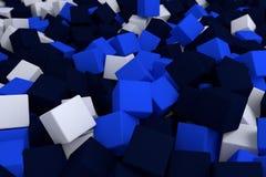 Cubi blu Fotografia Stock