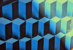 Cubi blu astratti Immagini Stock