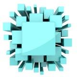 Fondo astratto solido verde blu-chiaro Immagini Stock Libere da Diritti