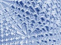 Cubi blu d'argento Fotografie Stock Libere da Diritti