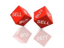Cubi compra-vendita Immagine Stock