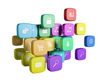 Cubi con colore Immagine Stock
