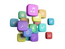 Cubi con colore Fotografia Stock