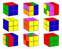 Cubi con colore differente Immagini Stock
