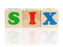 Cubi con le lettere Fotografia Stock