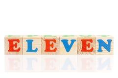 Cubi con le lettere Immagine Stock