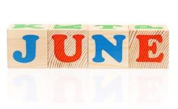 Cubi con le lettere Fotografie Stock