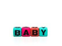 Cubi con le lettere Immagini Stock