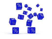 Cubi con le percentuali Immagini Stock
