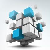 cubi 3d Fotografia Stock Libera da Diritti