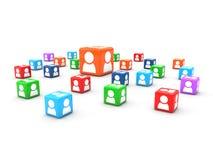 Cubi degli utenti Fotografie Stock Libere da Diritti