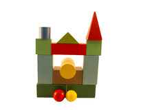 Cubi del progettista dei bambini sul metodo di Montessori Immagini Stock