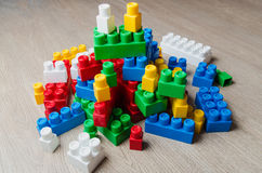 Cubi del progettista del ` s dei bambini Immagine Stock