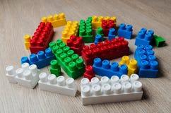 Cubi del progettista del ` s dei bambini Fotografie Stock