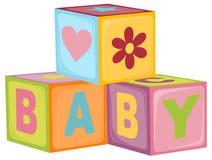 Cubi della lettera del bambino illustrazione vettoriale