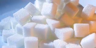 Cubi dello zucchero Immagini Stock