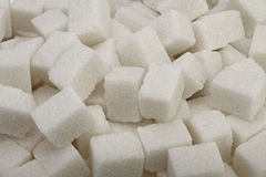 Cubi dello zucchero bianco Immagine Stock Libera da Diritti