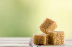 Cubi dello zucchero bruno Fotografia Stock