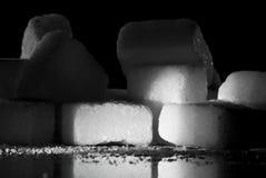 Cubi dello zucchero con le ombre Immagini Stock Libere da Diritti