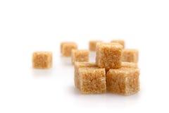 Cubi dello zucchero di Brown Fotografia Stock Libera da Diritti