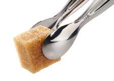 Cubi dello zucchero di canna immagine stock libera da diritti