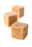Cubi dello zucchero di canna Fotografia Stock