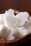 Cubi dello zucchero di figura del ponticello Immagine Stock