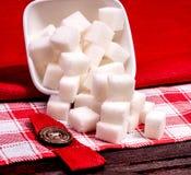 Cubi dello zucchero raffinato Immagine Stock Libera da Diritti