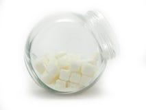 Cubi dello zucchero in un barattolo Immagini Stock Libere da Diritti