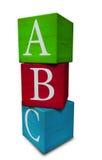 Cubi di ABC Fotografia Stock