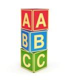 Cubi di ABC Immagini Stock