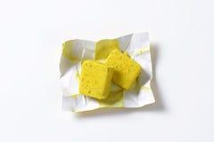 Cubi di brodo Fotografia Stock