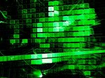 Cubi di caos - immagine digitalmente generata dell'estratto illustrazione di stock