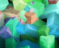 Cubi di cristallo illustrazione vettoriale