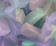 Cubi di cristallo illustrazione di stock
