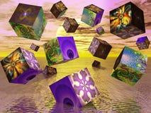Cubi di frattalo Fotografia Stock