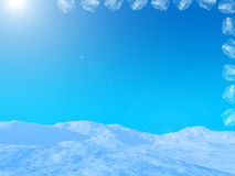 Cubi di ghiaccio al sole Immagini Stock Libere da Diritti