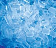 cubi di ghiaccio blu Fotografia Stock Libera da Diritti