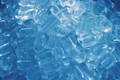 Cubi di ghiaccio blu Immagini Stock Libere da Diritti